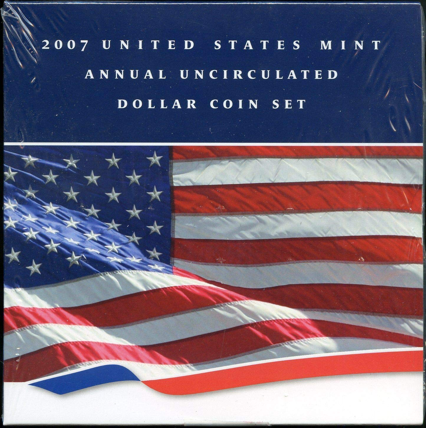 2007 United States Mint Annual Dollar Set 2007-W American Silver Eagle