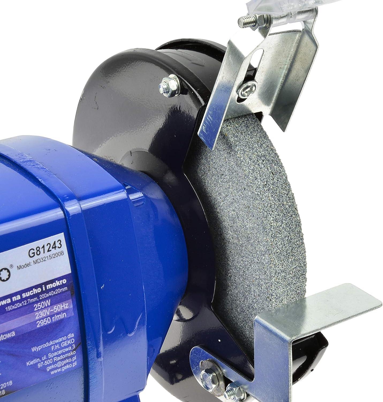 2950//134 RPM Meule//Meule /à eau Meuleuse d/établi Touret /à Meuler 250W Double Ponceuse 150//200mm