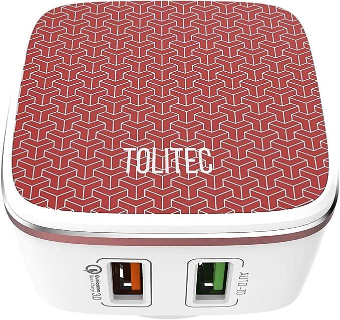 Amazon.com: Cargador principal TOLITEC de 4,8 A/30 W con 2 ...