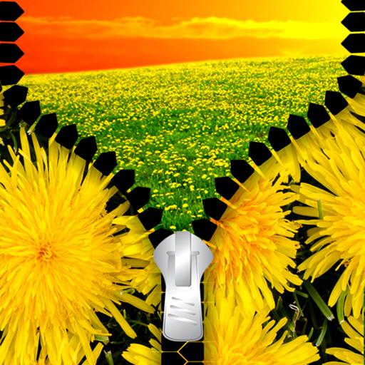 Blossom Hamper - Dandelion Zipper Lock Screen