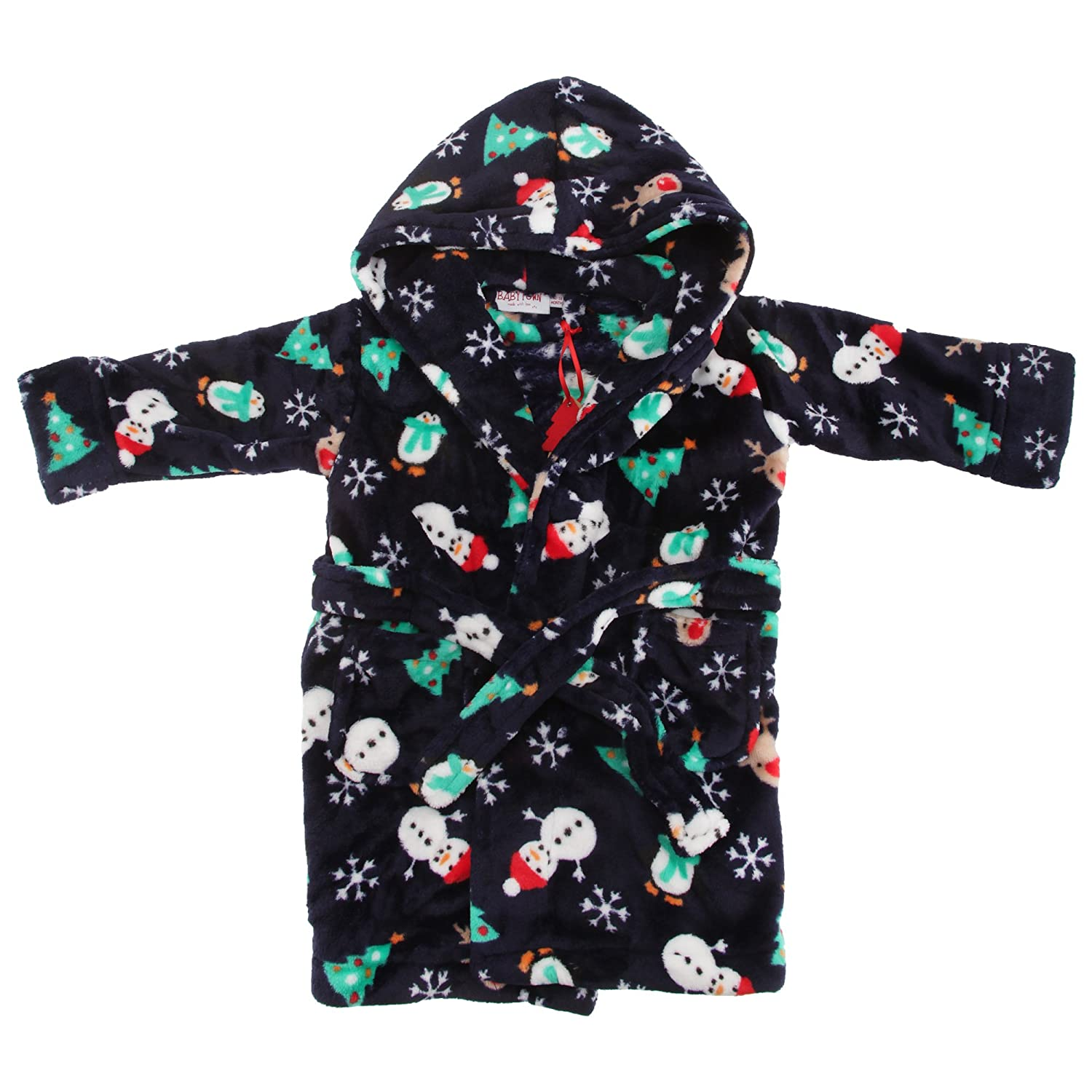 Universal Textiles Childrens/Kids Hooded Supersoft Christmas Dressing Gown UTN812_7
