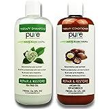 PURE Shampoo and Conditioner Set, HUGE 26.5 oz. Each Extra Strength Formula Moisturizes Dry & Damaged Hair (Argan Oil…