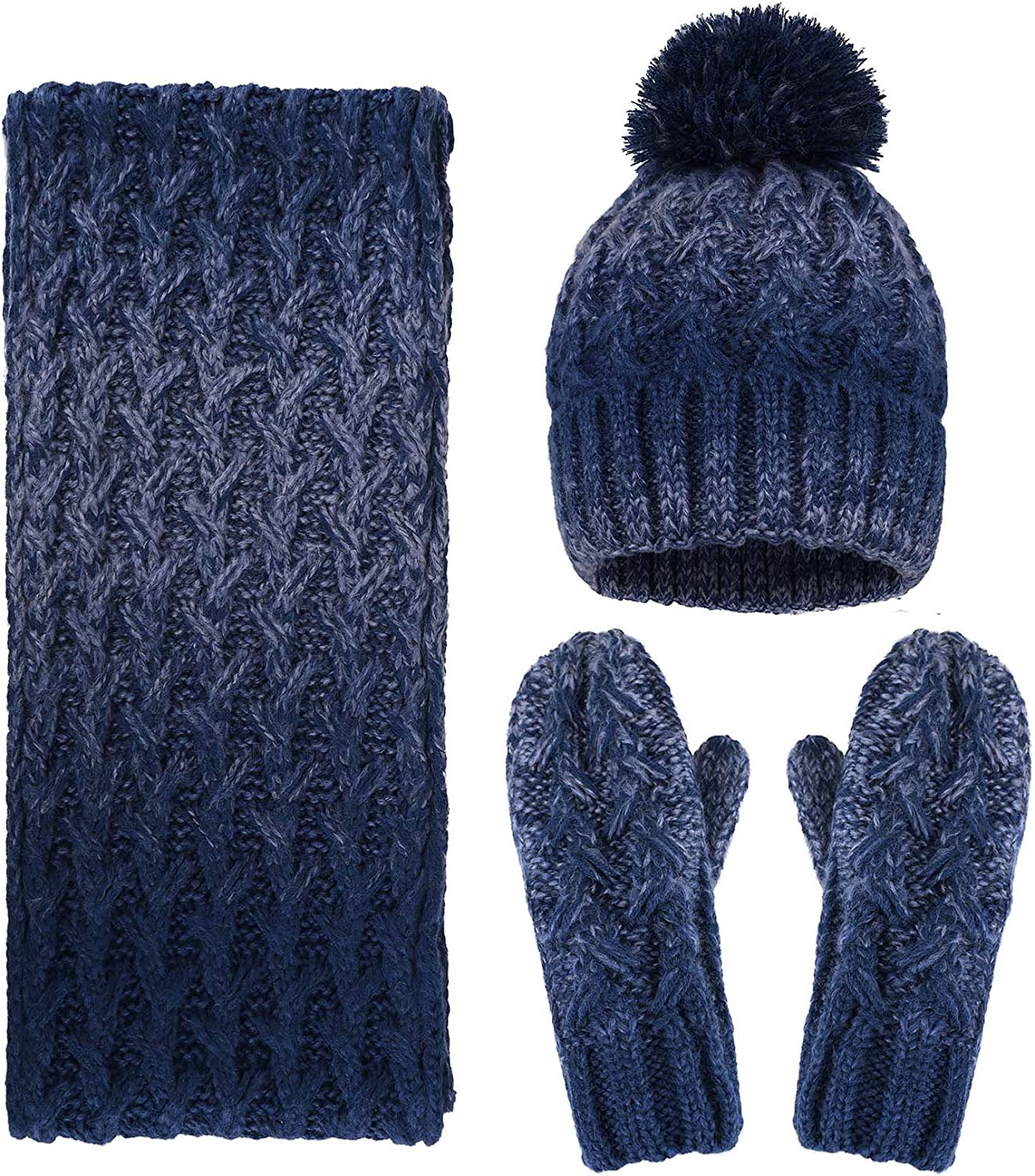 Adult 3 Piece Warm Knitted...
