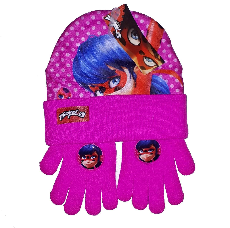 Miraculous LADYBUG Winterset Mütze und Handschuhe