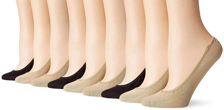PEDS womens Microfiber Ultra Low Cut Liner W/Gel Tab 9-pairs Peds Womens Legwear 9015A