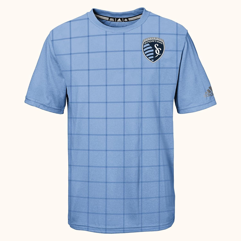 7 Bahia Blue MLS by Outerstuff Boys Dassler Short Sleeve Tee Kids Large