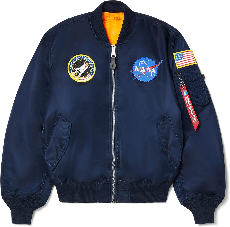 Alpha Industries Men's NASA MA-1 Bomber Flight Jacket: Clothing