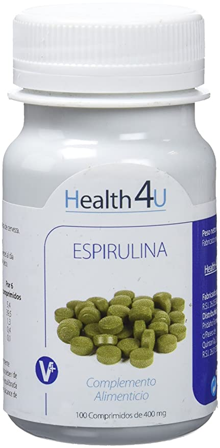 H4U - H4U Espirulina 100 comprimidos de 400 mg