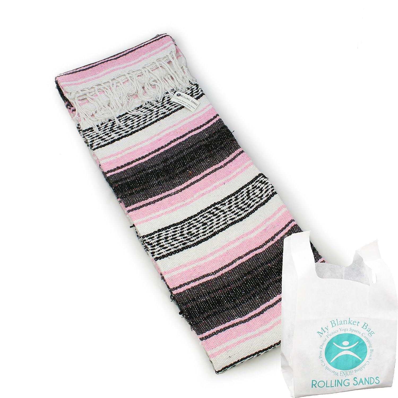 Manta para yoga tejida a mano con diseño mexicano y bolsa ...