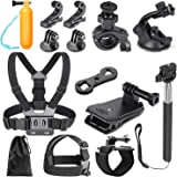 Neewer 14-in-1 Outdoor Sports Action Camera Accessory Kit for GoPro Hero 7 6 5 4 3+ 3 2 1 Hero Session 5 Black AKASO EK7000 Apeman SJ4000 5000 6000 DBPOWER AKASO VicTsing WiMiUS Rollei QUMOX Lightdow Campark DJI OSMO Action Sony Sports Dv and More
