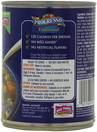 Amazon.com : Progresso Traditional Soup, Italian-Style Wedding, 18.5-Ounce Cans (Pack of 12) : Packaged Vegetable Soups : Grocery & Gourmet Food