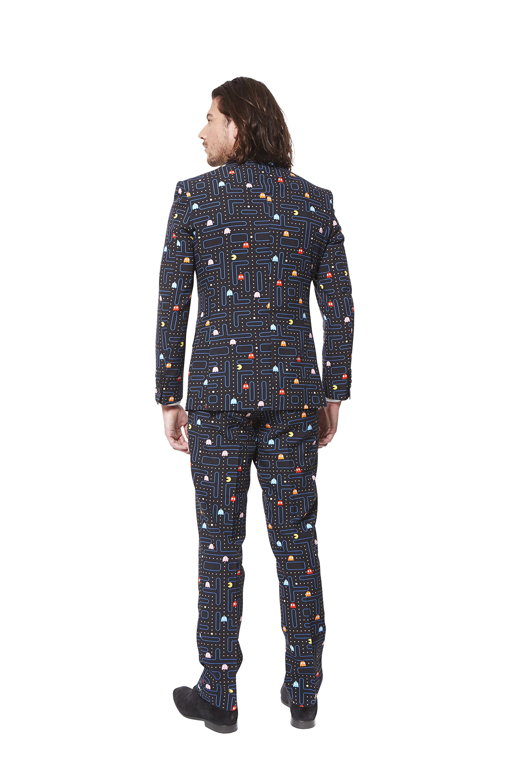 OppoSuits Mens PAC-MAN Party Suit - Video Game Costume, 40