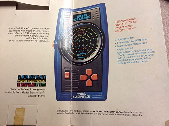 Amazon Sub Chase Original 1978 Handheld Game In Box With