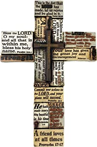 Urbalabs Bible Verses Religious Faith Hope Love Wall Decor 18 Christian Wall Cross Decor Marriage Gifts Scripture Inspirational Quotes Wall Art Crossword Biblical Gifts