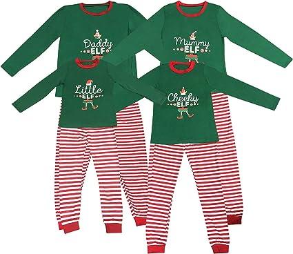 Elf Pijamas Pijama de Navidad Familia Juego el Sistema papá mamá Fresca de pequeños Duendes Hombres Mujeres Niño Niña de Navidad Traje Ropa de Dormir