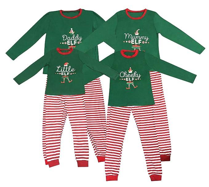 Elf Pijamas Pijama de Navidad Familia Juego el Sistema papá mamá Fresca de pequeños Duendes Hombres Mujeres Niño Niña de Navidad Traje Ropa de Dormir: ...