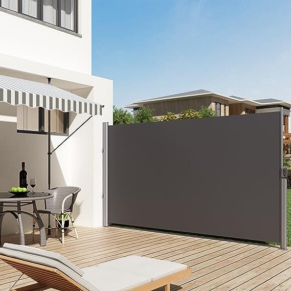 SONGMICS GSA160G - Toldo Lateral para balcón y terraza (160 x 300 ...