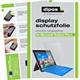 dipos Microsoft Surface Pro 4 Schutzfolie (2 Stück) - Antireflex Premium Folie matt