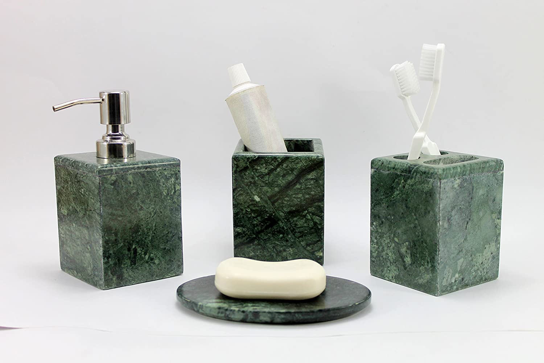 Set accessori bagno di lusso kleo da 4 pezzi include dispenser