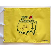 $1299 » Tiger Woods Autographed 2019 Masters Pin Flag. Signed. UDA COA. LE of 1000