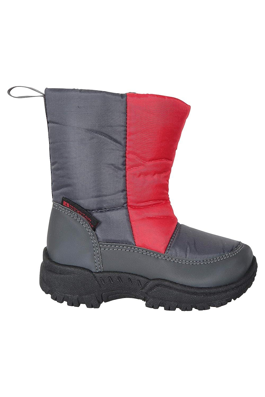 duraderas y con Forro Polar Mountain Warehouse Botas de Nieve Snowball para ni/ños para Senderismo Cierre de Velcro Resistentes a la Nieve