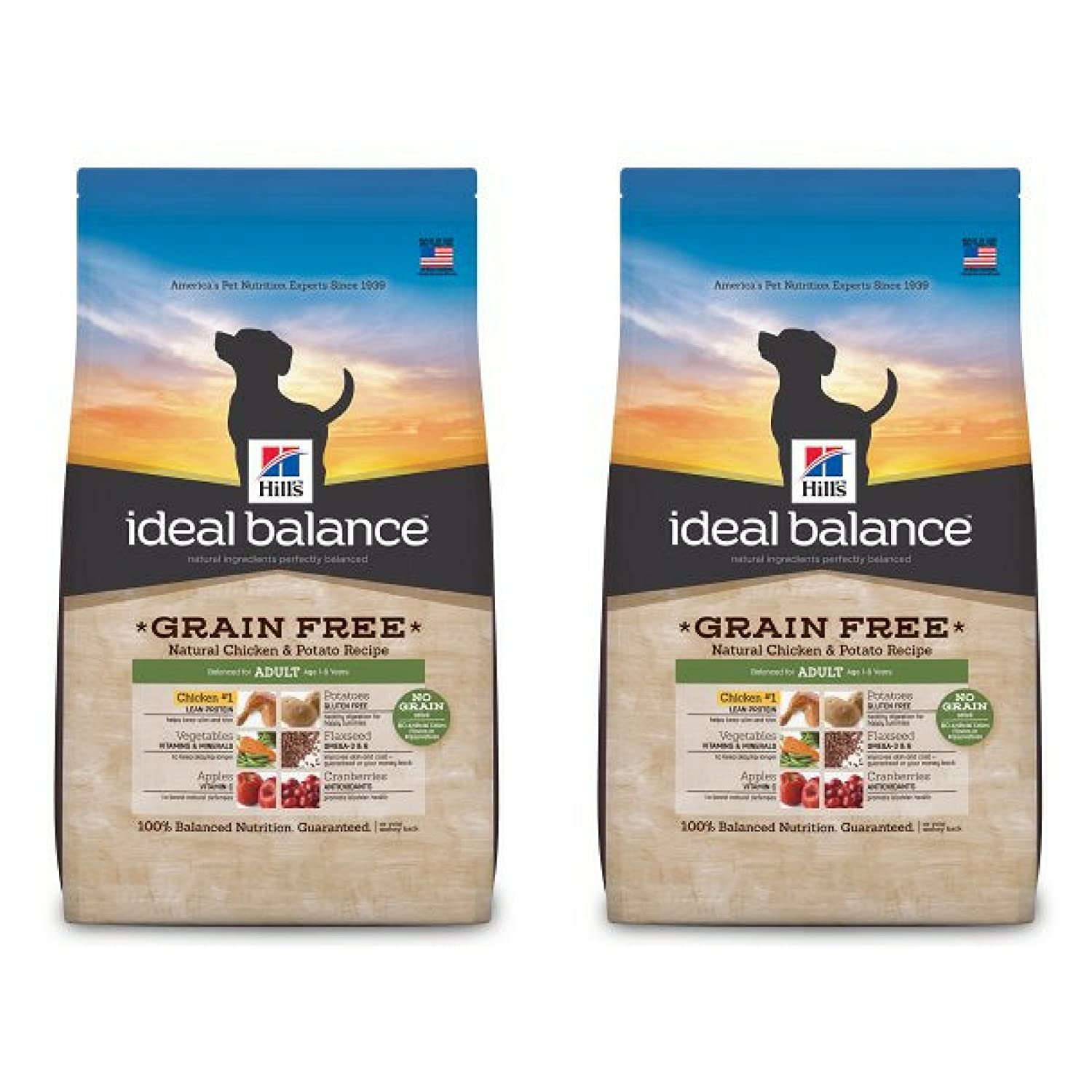Amazoncom Hills Ideal Balance Adult Grain Free Natural Chicken
