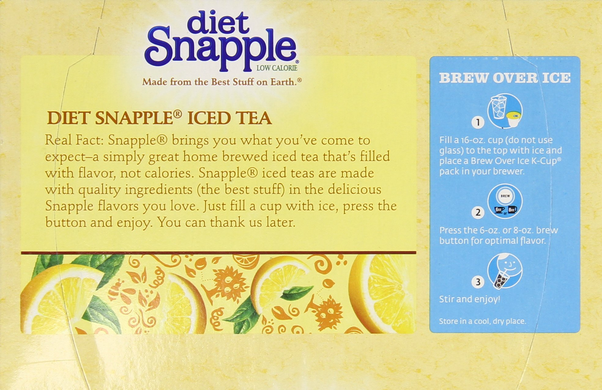 Keurig K Cups Snapple, Diet Lemon Iced Tea , 72 Count by Snapple (Image #10)
