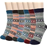 6 Pares de Calcetines Térmicos, Aiglam calcetines con dibujos, calcetines invierno gruesos suaves y transpirables para…