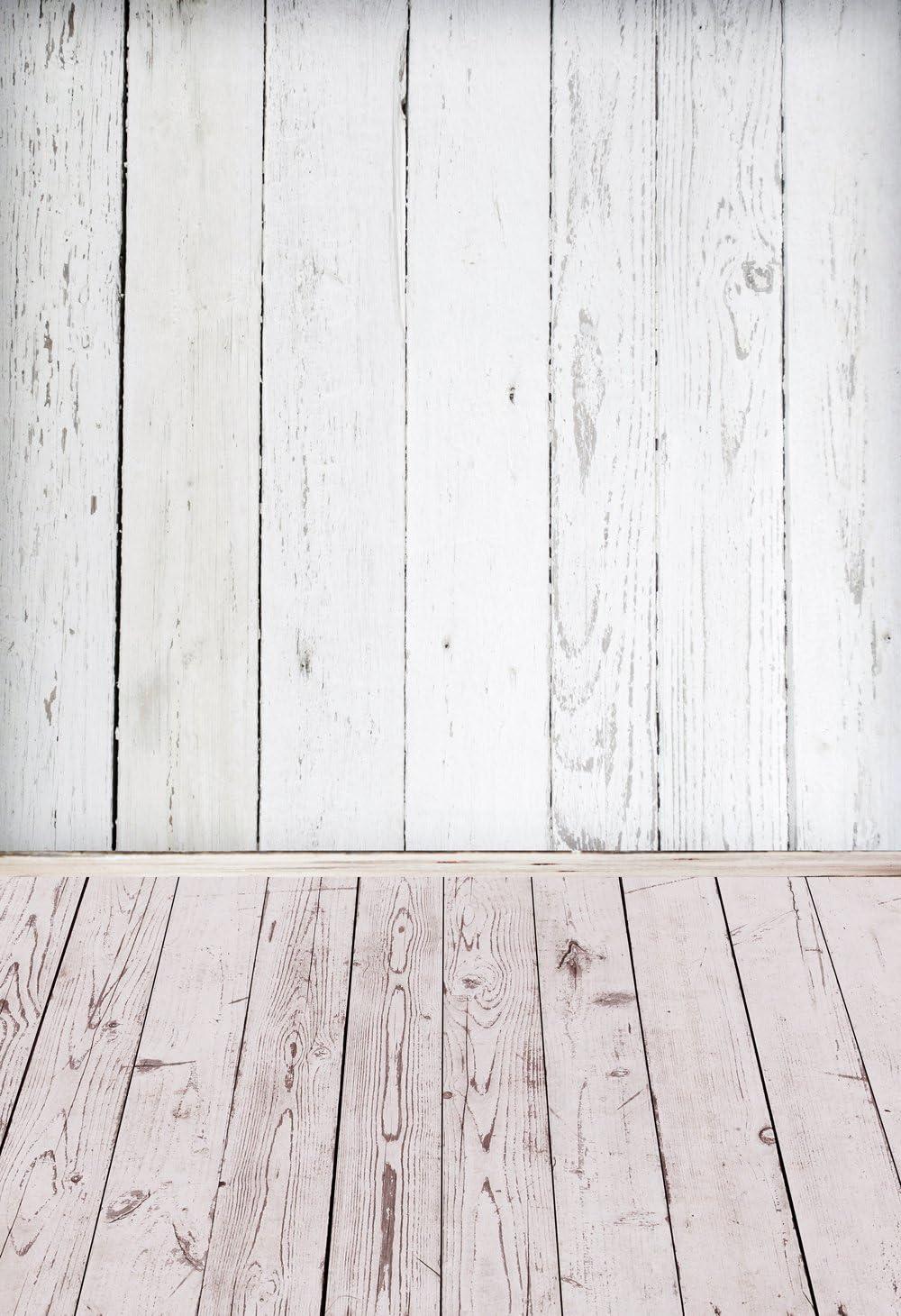 hua-uk blanco madera fotografía fondo para niños fiesta de cumpleaños de pastel rosa mascota xt-5109