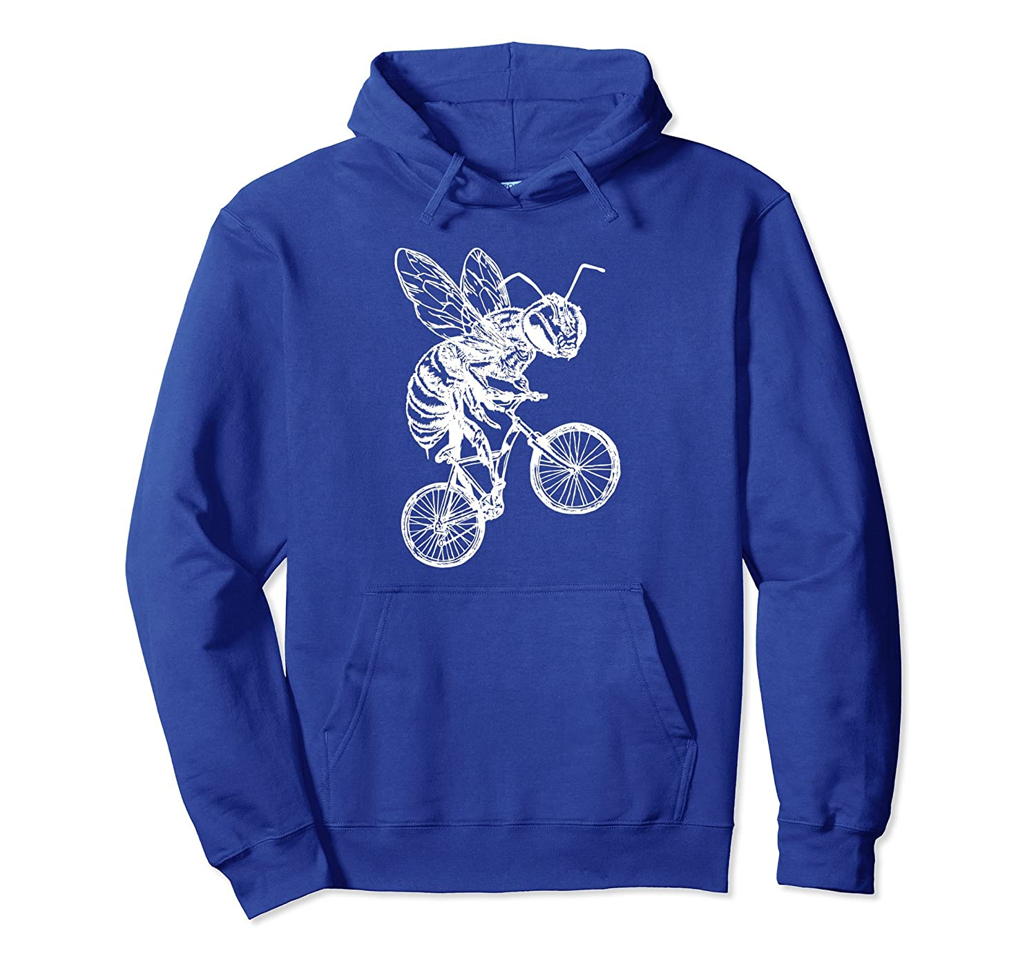 SEEMBO Bee On A Bicycle Pullover Cycling Hoodie Cyclist Gift-AZP