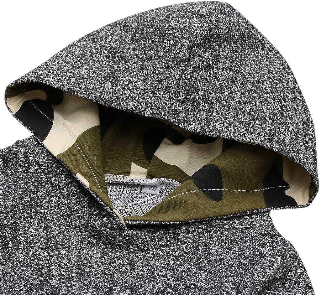SHOBDW Kid Girl Fashion Splicing Plaid Hoodie Pocket Spring Winter Warm Sweatshirt Pullover Toddler Baby Clothes Boys Tops
