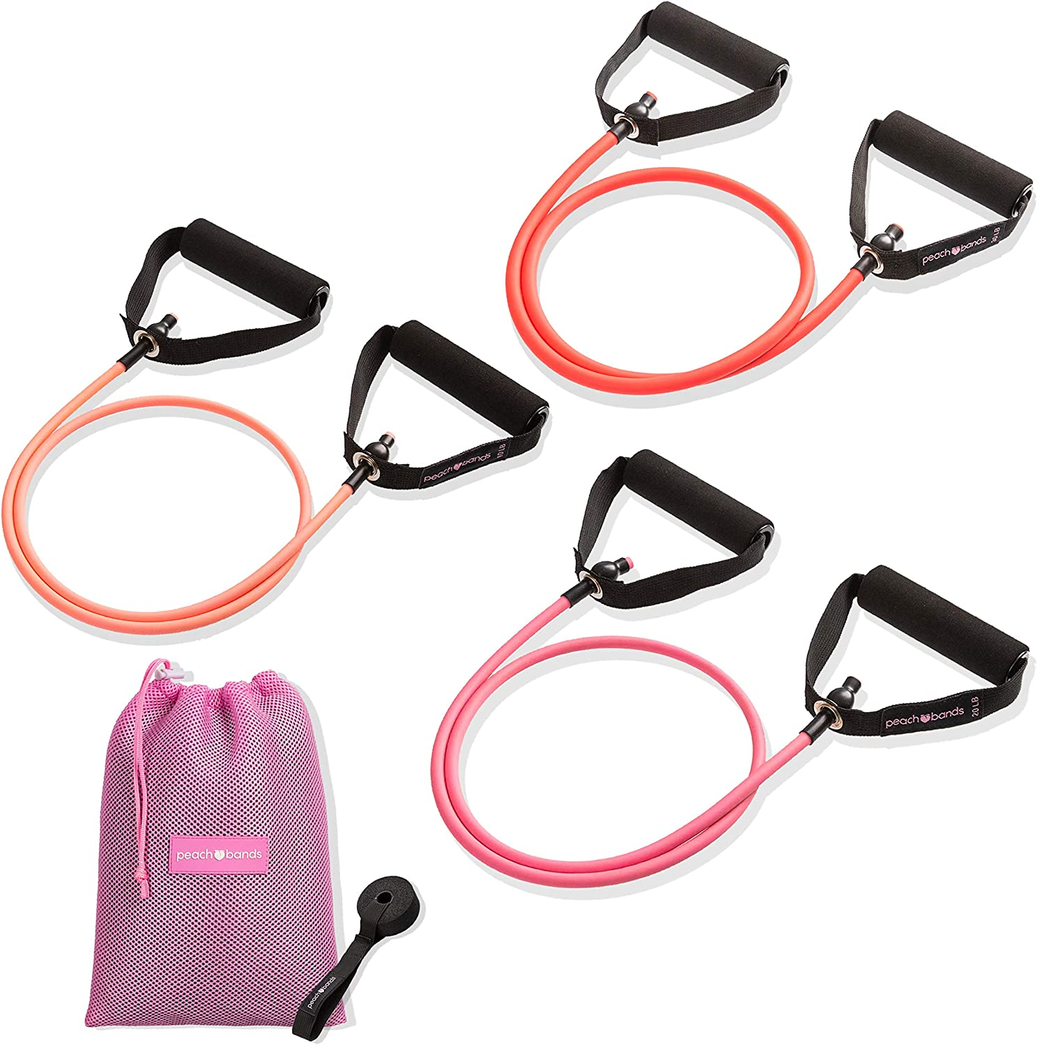 Peach Bands resistance bands
