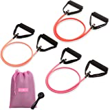 PEACH BANDS Resistance Tube Bands Set - Exercise Bands with Handles, Door Anchor and Workout Guide