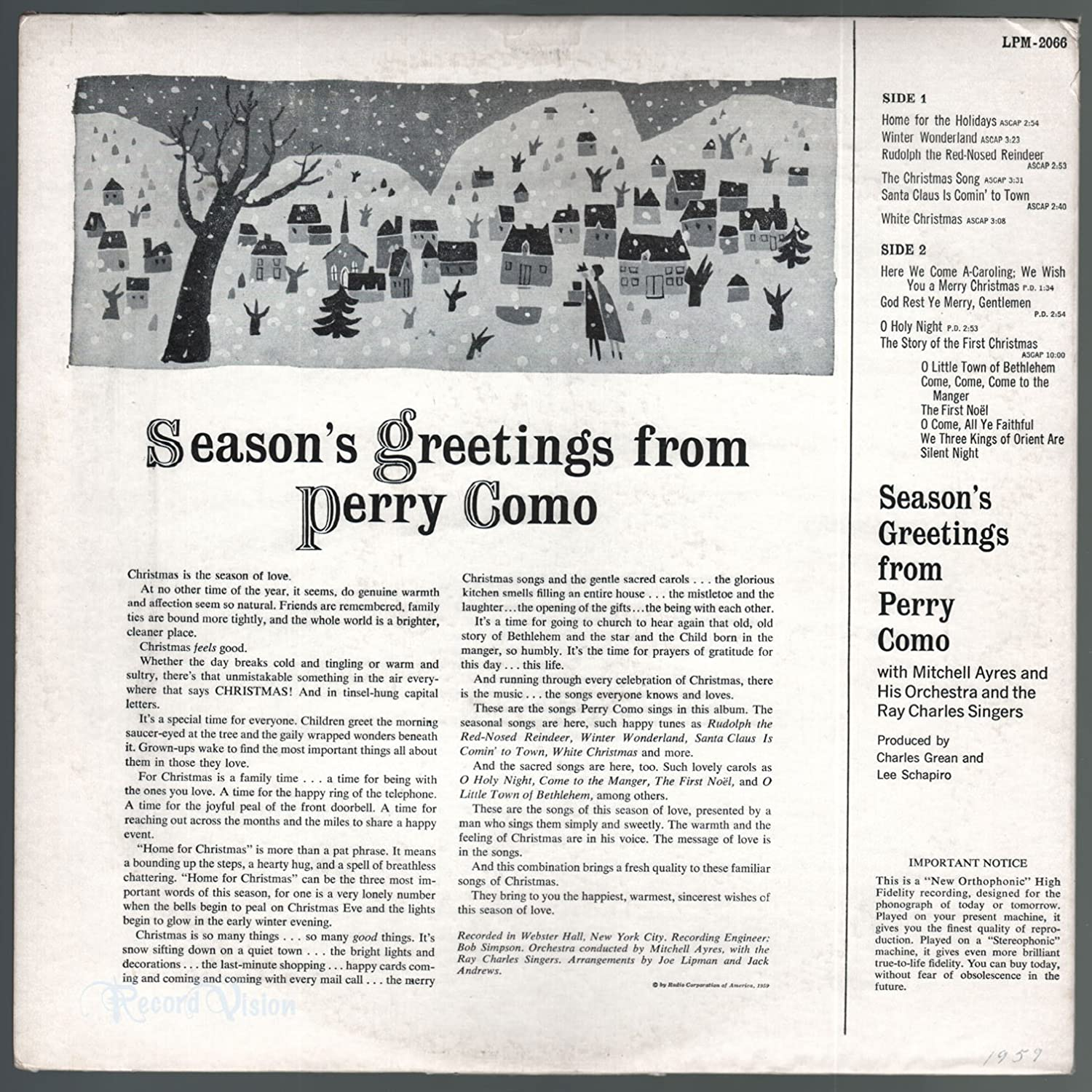 Perry como seasons greetings from perry como amazon music m4hsunfo