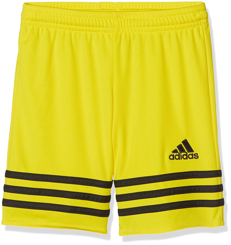 Adidas Entrada 14, Pantaloncini Bambino, Multicolore (Giallo/Blu Acceso), 152 F50630