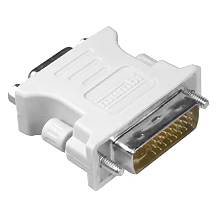 mumbi DVI Adapter (DVI-I zu VGA) DVI 24+5 zu VGA Adapter - Digital auf Analog Adapter für Grafikkarten, Beamer, und Monitore