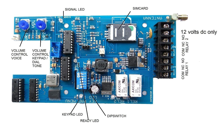 Interfono GSM - 12v a prueba de vándalos con teclado: Amazon.es: Electrónica