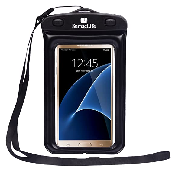 premium selection 326bd ae8ad Water Resistant Pouch Bag Waterproof Case for Samsung Galaxy S5, Galaxy S7  Edge, Galaxy J5 J7, On5, Black