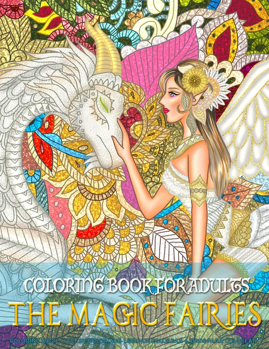 Dover Creative Haven Enchanted Fairies Coloring Page 1 | Fairy ... | 1360x1051