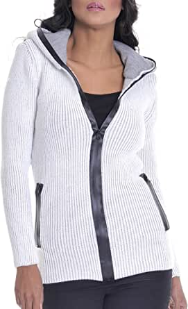Leif Nelson LN20227D color negro corte ajustado Sudadera con capucha para mujer