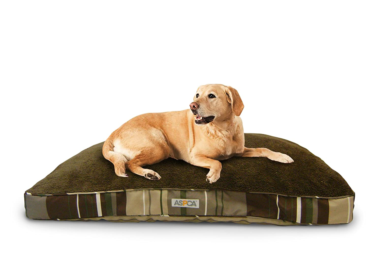 Aspca reversible striped gusseted pillow dog pet bed comfy for Amazon com pillow pets