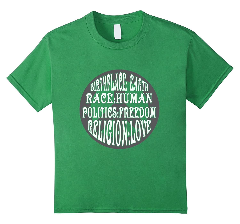 Shirt Human Race Love Religion-Awarplus