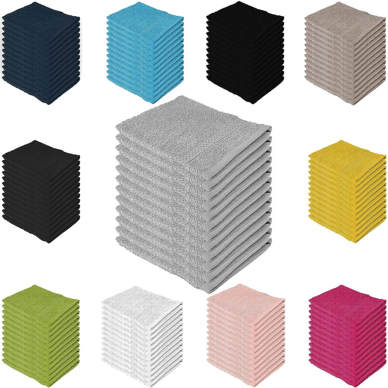 16x21cm Manopla Absorbente de Franela para el Cuerpo Blanco 100/% algod/ón 8 x 500 g//m/², 100/% algod/ón Adore Home 6 Colores