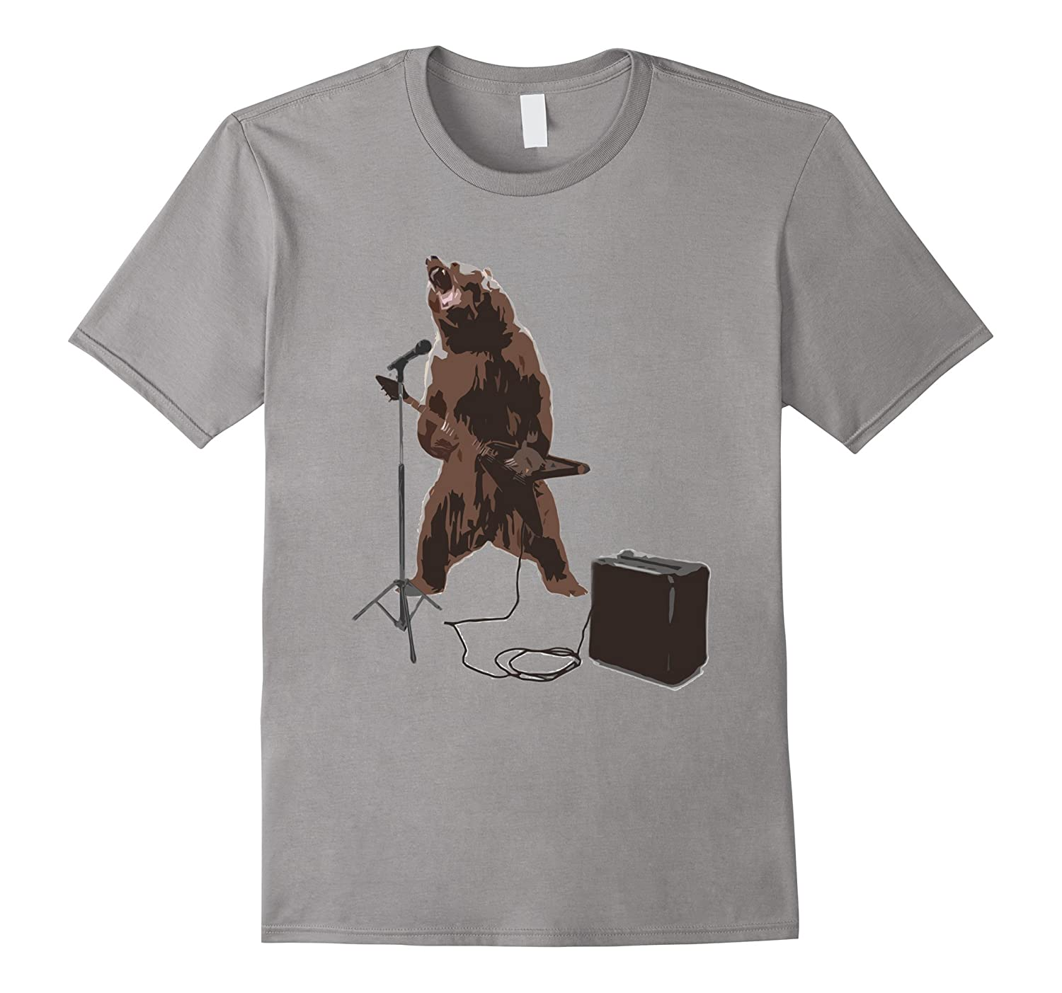 Bear Rock T-Shirt Mens & Womens Size-Art