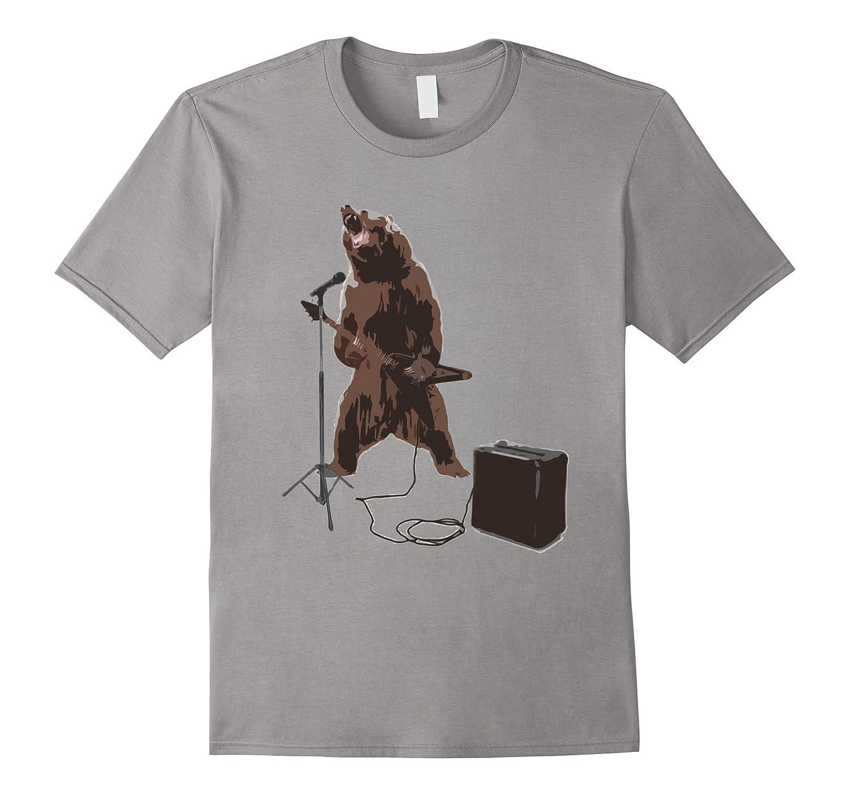 Bear Rock T-Shirt Mens  Womens Size-TD