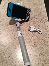 selfie stick easy plug 39 n play cable operation advanced monopod for iphones ios. Black Bedroom Furniture Sets. Home Design Ideas