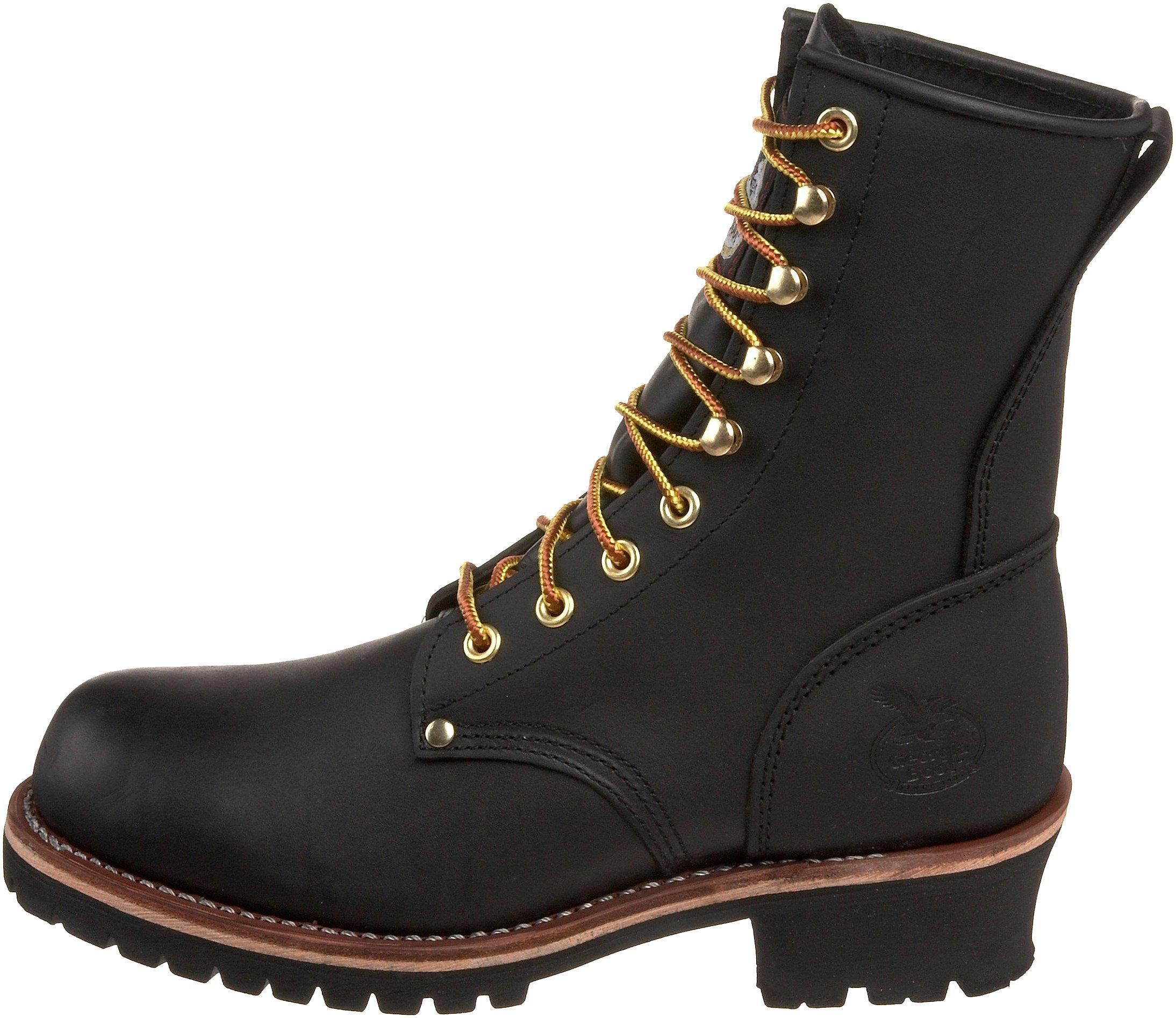 Georgia Boot Men's Logger 8'' Black Non Steel,Oily Black,5 M US by Georgia Boot (Image #5)