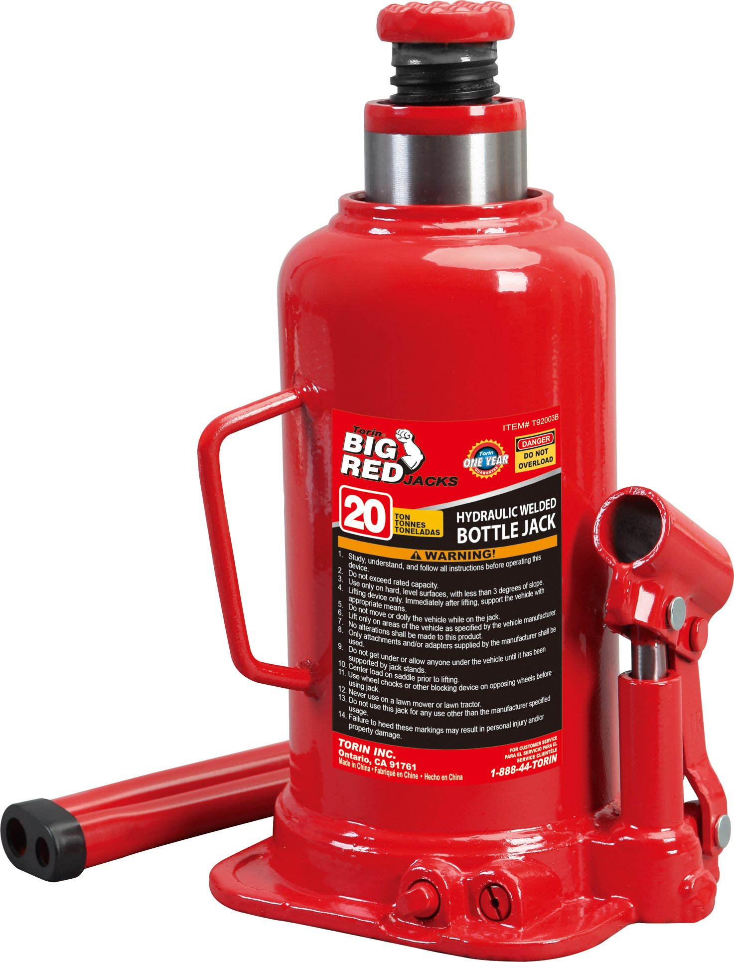 Torin Big Red Hydraulic Bottle Jack, 20 Ton Capacity by Torin
