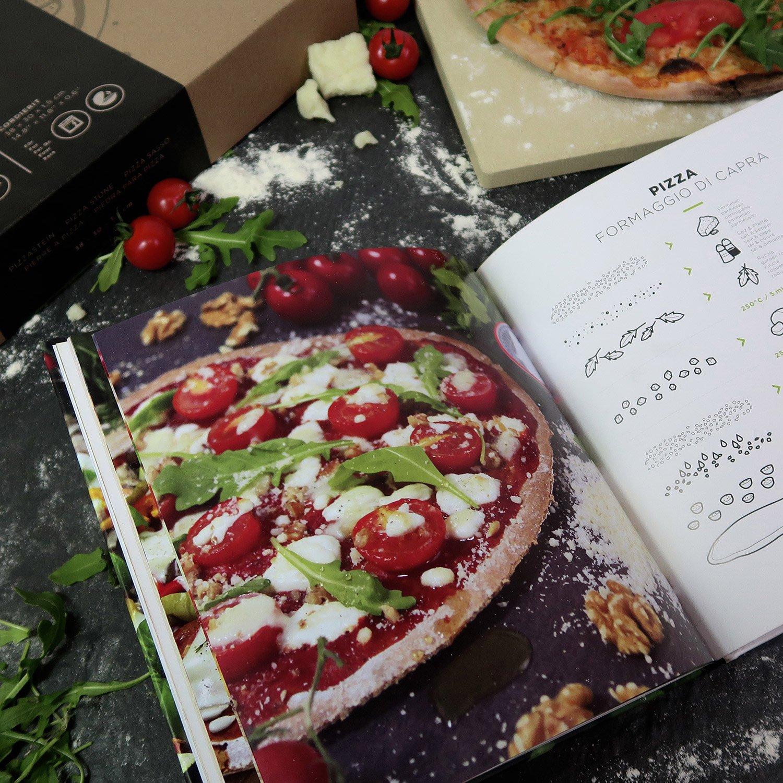 Piedra para pizza Pizza Propria de #benehacks | Para horno, barbacoa y parrilla | Incluye pala para pizzas & libro de recetas & embalaje regalo: Amazon.es: ...