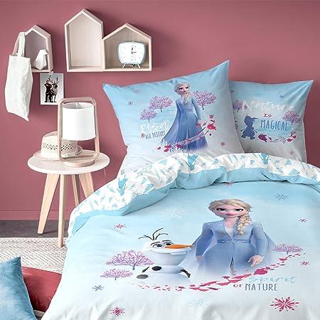 Copripiumino Frozen Cotone.Disney Parure Da Letto Per Bambini 100 Cotone Motivo Frozen